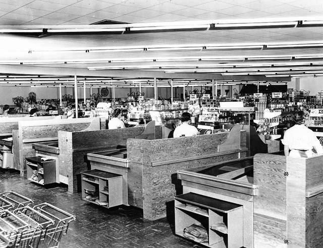 An interior view of Williams Brothers grocery store. This photo is undated. The owners also operated a Williams Brothers market in Cridersville.