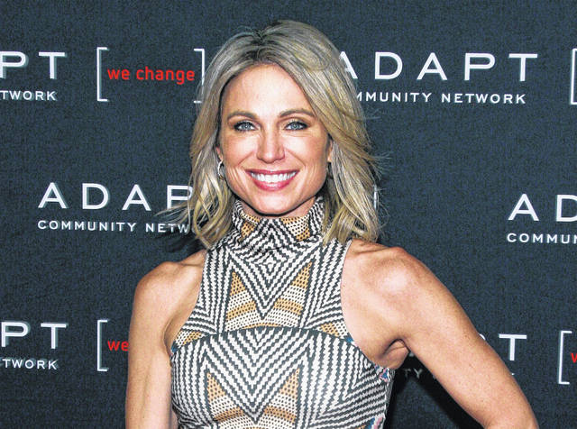 ABC News' Amy Robach appears at the 2019 ADAPT Leadership Awards in New York. ABC News is defending itself against charges that it was afraid to air an interview with a Jeffrey Epstein accuser after video emerged Tuesday showing Robach venting about her story. ABC says that Robach's 2015 interview with accuser Virginia Roberts didn't have enough corroborating evidence.