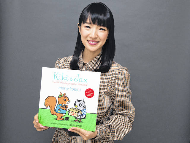 """Author and television personality Marie Kondo poses for a portrait to promote her children's book """"Kiki & Jax: The Life-Changing Magic of Friendship"""" on Monday in New York."""