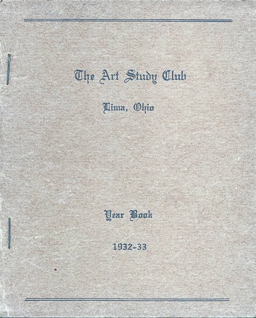 A Lima Art Study Club yearbook from 1932-1933.