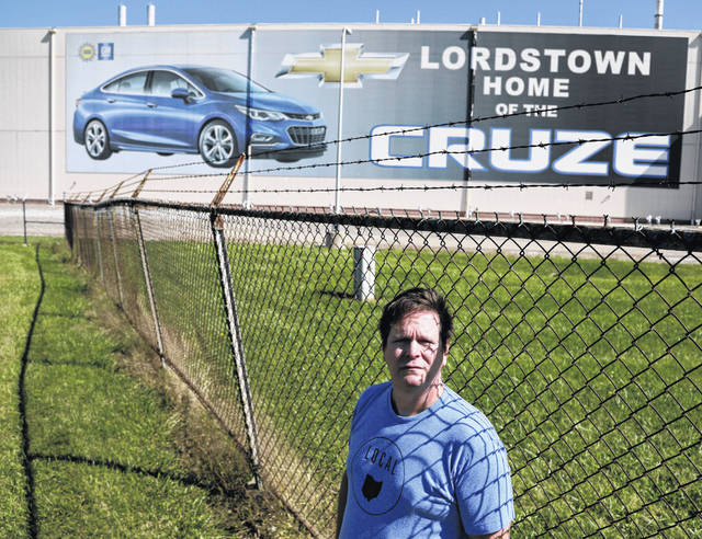 Mike Yakim stands outside the empty GM Lordstown Assembly plant in Lordstown, Ohio on Sept. 18. Some General Motors workers wonder if their strike was effective.