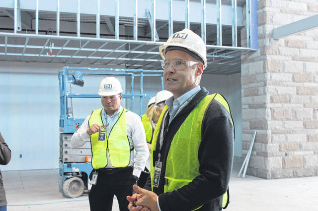 Airstream CEO Bob Wheeler stands outside the new manufacturing facility, which will employee more than 1,000 workers. The company expects the facility to be operational by January 2020, and the building to be fully complete and open by April 2020.