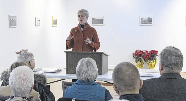 """A room full of community arts members gathered at ArtSpace/Lima Tuesday morning for the release of """"Beyond Our Imagination"""" by Martha """"Martie"""" MacDonell and Mary """"Molly"""" Weis (pictured)."""