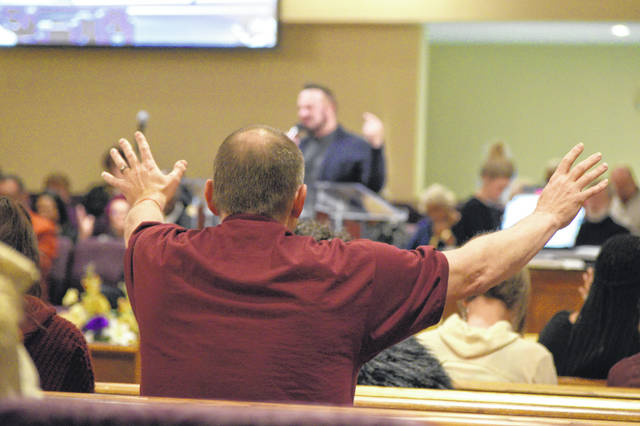 Local preachers prayed for an end to gun violence locally at an ecumenical service Sunday at Second Baptist Church in Lima.