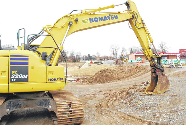 Construction on the third phase of the Elm Street underpass and roundabout project begins Monday.