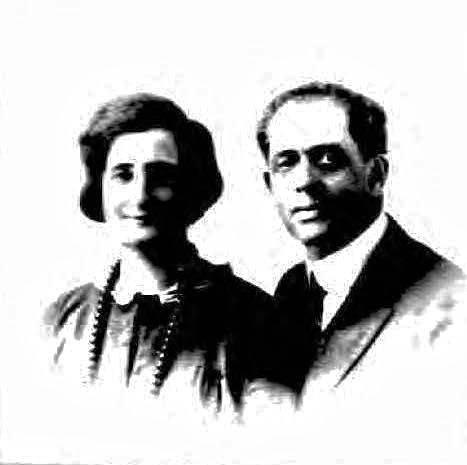 Leon and Blanche Loewenstein, photographed in 1912, when they applied for a passport.