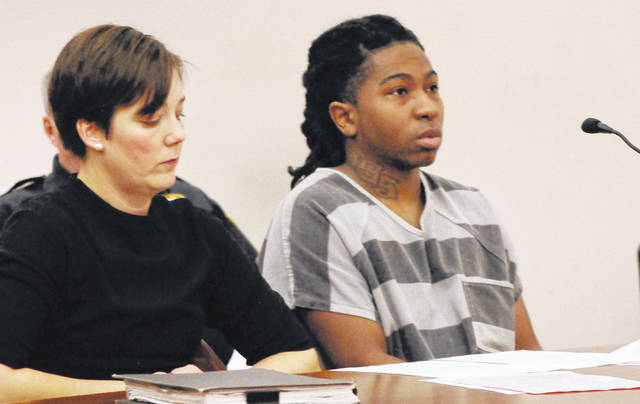 Rasheign Tisdale, will be sentenced Jan. 9 after pleading guilty on Wednesday to discharging a weapon on or near a prohibited premises, carrying a concealed weapon and theft. Tisdale earlier this year was said to be a suspect in the shooting death in Lima last December of Anthony Bankson.