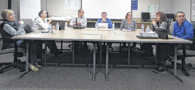 Pictured are Ottawa-Glandorf School Board members who approved a contract Tuesday night for Ottawa-Glandorf teachers.
