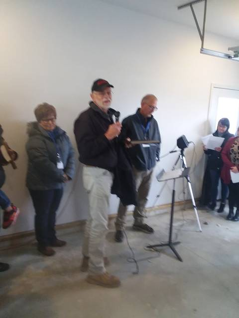 Submitted photo Habitat For Humanity in Putnam County honored Ken Elchinger for surpassing 1,000 hours of volunteering on the affiliate's new home builds, rehab projects and critical home repair projects.