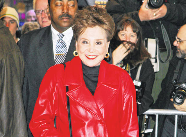 "FILE - This April 9, 2006 file photo shows New York Post columnist Cindy Adams at the opening night of the Broadway play ""Festen,"" in New York. Adams will be the subject of a Showtime documentary series in 2021 with Brian Grazer and Ron Howard executive producing."
