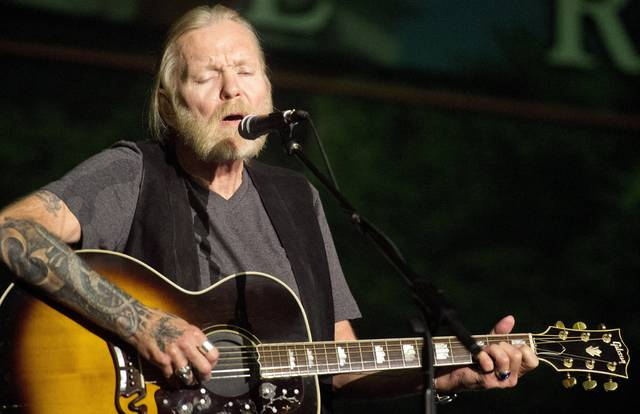 In this May 16, 2016, file photo, Rock and Roll Hall of Famer Gregg Allman performs during Mercer University's Commencement at Hawkins Arena in Macon, Ga. Capricorn Sound Studios, the Macon, Ga., music studio that fused blues, country and other sounds into Southern rock is being reborn. The historic Studio A is reopening this month, after years of work by Mercer University and other supporters to restore and equip it with state-of-the-art technology. The studio helped propel the Allman Brothers Band and other groups to stardom in the 1970s.