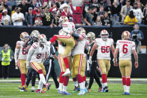 49ers edge Saints 48-46 in wild game