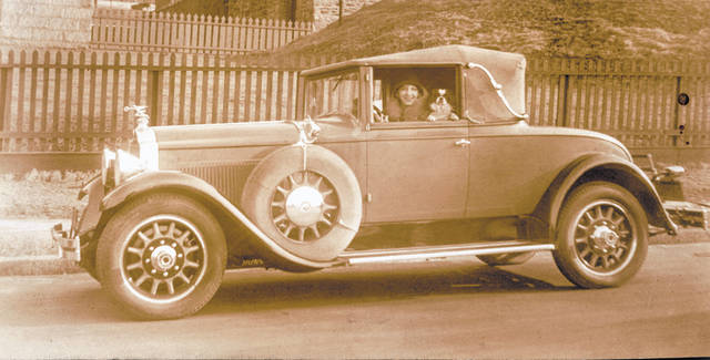 The 1929 packard convertible with rumble seat was a gift to Marjorie Stantley on Feb. 10, 1929, by an admirer. It cost $3000 and spent most of its life in storage in New York. It was sold in the 1950s for $600.