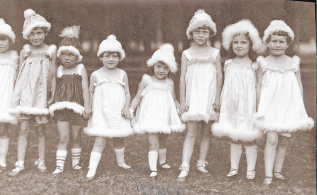Doherty, fifth from left, at about age 4.