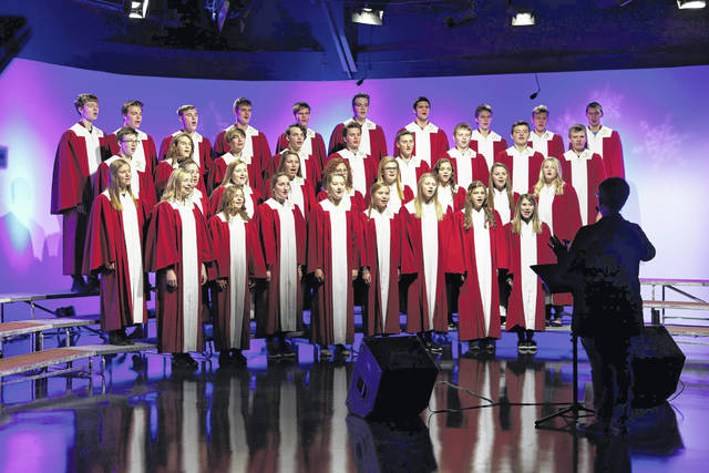 Members of the Kalida choir perform during WTLW-TV's annual Holiday Music Festival studio production.