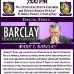Whitehorse Biker Church hosting service with Mark T. Barclay