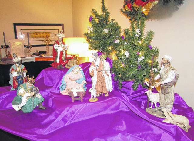 The Myer family purchased this Nativity scene 20 years ago from a gift shop at King's Island.