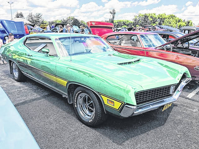 <strong>No. 1 — 1971 Ford Gran Torino: </strong>Charles and Mary Blackman, of Wapakoneta, have owned this Ford Gran Torino since 1971. It still has its original paint.