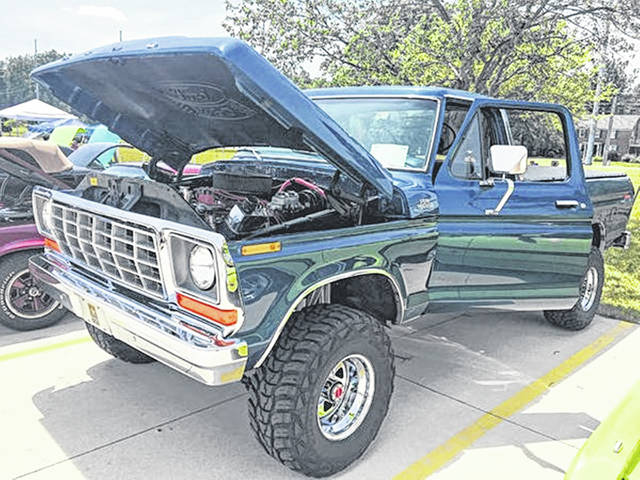 <strong>No. 2 — 1978 Ford F-150: </strong> Denny Latham, of Wapakoneta, and his son, Brett, have spent 15 years restoring this 1978 Ford F-150.