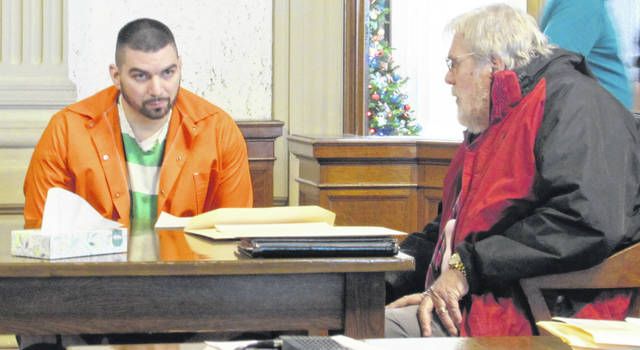 Defendant Travis Soto is pictured speaking in court in Putnam County Thursday with his attorney Bill Kluge.