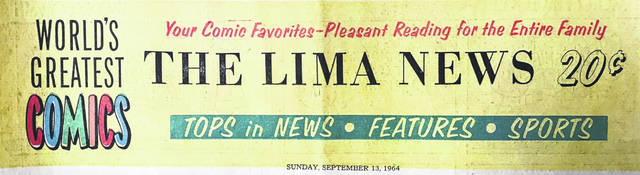 This colorful section header promotes The Lima News from Sept. 13, 1964.