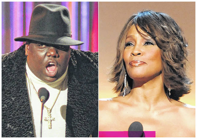 The Notorious B.I.G., left, and Whitney Houston, right, will be inducted into the Rock and Roll Hall of Fame's 2020 class.