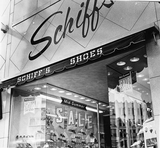 The storefront of the store at 213 N. Main St., Lima, photographed in 1961.