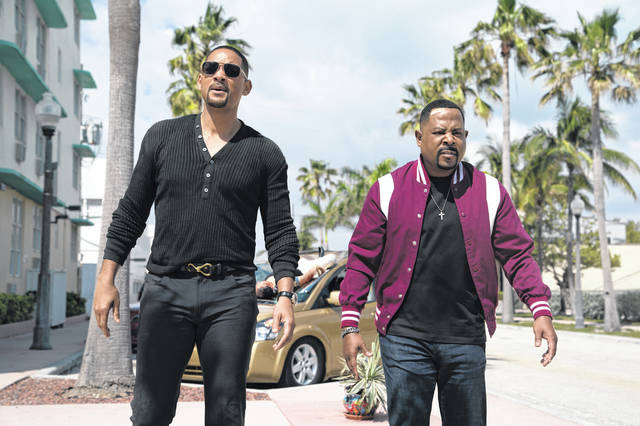 """This image released by Sony Pictures shows Martin Lawrence, right, and Will Smith in a scene from """"Bad Boys for Life."""""""
