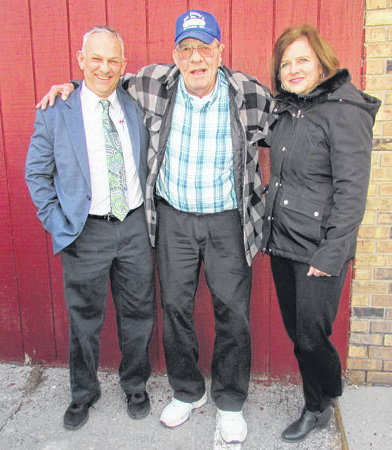From left are Tom Giesken, new Big Daddy's building owner, Bob Langhals, former Big Daddy's owner, and Patty Giesken, new Big Daddy's building owner.