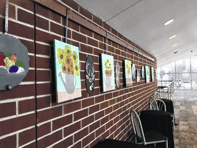 The pieces in the Mezzanine Gallery were completed by Bittersweet-Betty's Farm students in a three-week art course led by former participant Ben Slechter.