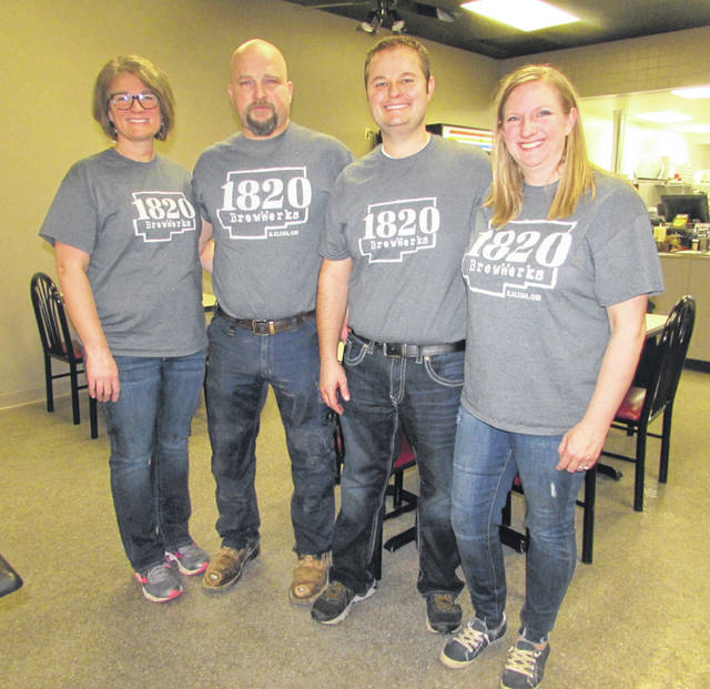 From left are 1820 BrewWerks owners Amy and Butch Brinkman and Andrew and Tessa Wehri.