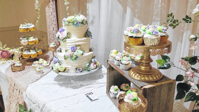 Besides tasting cakes, couples could check out examples of finished wedding cakes from Baked to Perfection.