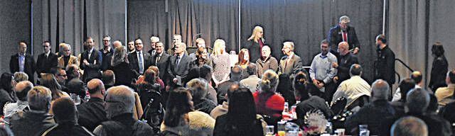 Circle of Influence presentation at the Lima/Allen County Chamber of Commerce's annual breakfast on Friday morning.