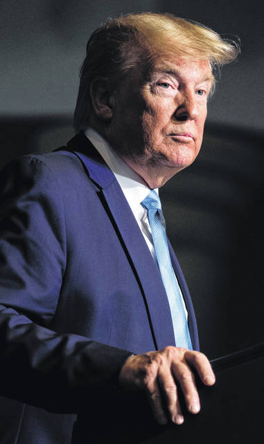 "President Donald Trump speaks during an ""Evangelicals for Trump Coalition Launch"" at King Jesus International Ministry, Friday, Jan. 3, 2020, in Miami. (AP Photo/ Evan Vucci)"