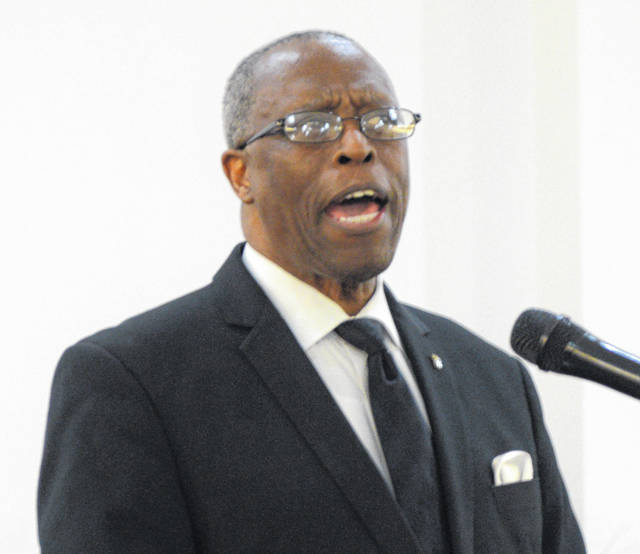 Bishop Donald Washington of Mount Herman Missionary Baptist Church in Columbus was the keynote speaker at an evening remembering Martin Luther King's Jr.'s legacy.