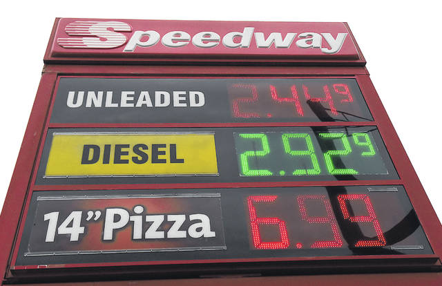 Area gas prices at Speedway on Harding Highway in Lima.