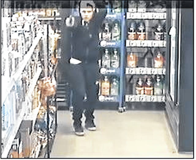 Pictured are two subjects who attempted to rob Hermies Party Shop on St. Johns Road Tuesday evening.