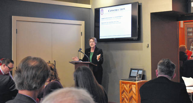 An estimated 55 members of the Allen County Bar Association attended a luncheon Friday afternoon at The Met to hear Ohio Supreme Court Justice Sharon Kennedy speak.