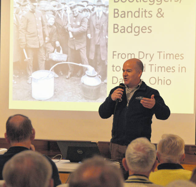 Steve Lucht, curator of Dayton History, recounted the link between John Dillinger, Lima and Dayton in a program at the Allen County Museum on Sunday.