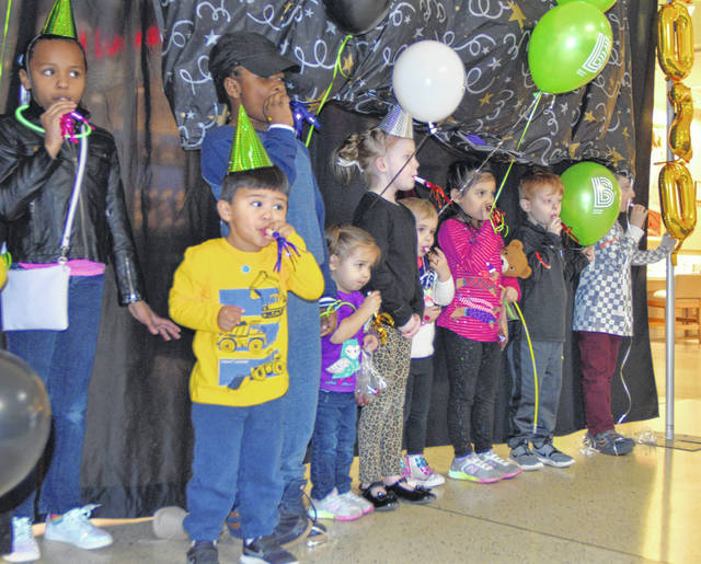 Area children welcomed in the New Year on Saturday at the Lima Mall.