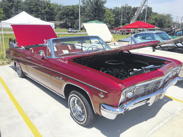 Jerry Lynch, of Wapakoneta, waited five years to complete a frame-off restoration before ever driving this 1966 Chevy Impala Convertible.