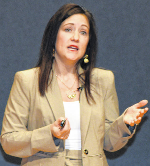 "Ronda Lehman was the keynote speaker Tuesday during Bluffton University's Presidential Leadership Forum, speaking on ""My Leadership Journey in Health Care."""