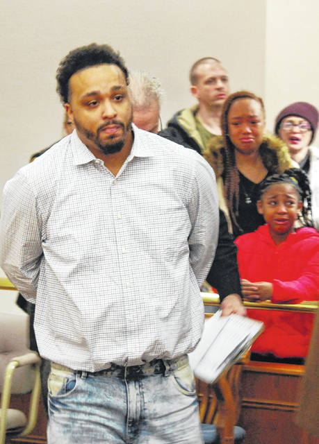 Shay Williams, 31, of Lima, left an Allen County courtroom in handcuffs Thursday to begin serving a 24-year sentence in state prison. Williams pleaded guilty in November to trafficking in cocaine in Lima.