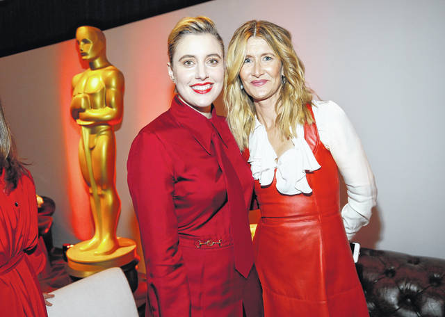 Greta Gerwig, left, and Laura Dern attend the 92nd Academy Awards Nominees Luncheon at the Loews Hotel on Jan. 27 in Los Angeles.