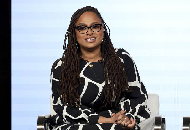 """Ava DuVernay speaks at the OWN: Oprah Winfrey Network's """"Cherish the Day"""" series panel Jan. 16 during the Discovery Network TCA 2020 Winter Press Tour in Pasadena, Calif. The series, airing at 10 p.m. Tuesday, follows a Los Angeles couple's relationship over eight episodes that span five years. Xosha Roquemore and Alano Miller star in the network's first anthology series, created by filmmaker and TV producer DuVernay."""
