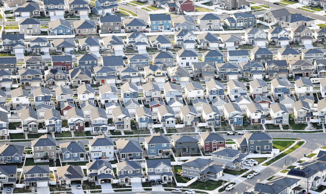 Rows of homes can be seen in suburban Salt Lake City. Americans took out nearly $150 billion in loans backed by the Federal Housing Administration to buy homes in 2018. Nearly 83% of those FHA borrowers were first-time home buyers, according to the Department of Housing and Urban Development.