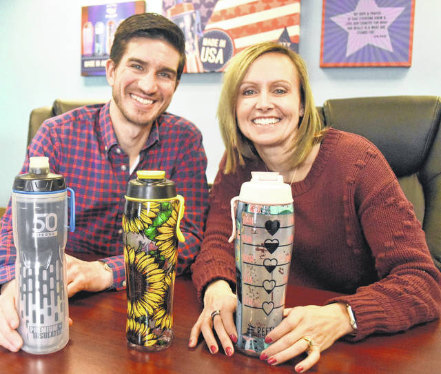 The husband-and-wife team of Brenden and Ashley Thompson are the driving force behind 50 Strong, a Lima-based company with a global marketing presence.