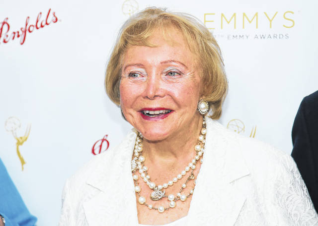 """This Aug. 26, 2015 photo released by the Television Academy shows Lee Phillip Bell at the Television Academy's 67th Emmy Daytime Peer Group Celebration in Beverly Hills, Calif. Bell, who co-created """"The Young and the Restless"""" and """"The Bold and the Beautiful"""" and hosted her own daytime talk show in Chicago for 33 years, died Tuesday, Feb. 25, 2020 at her home in Los Angeles. She was 91."""