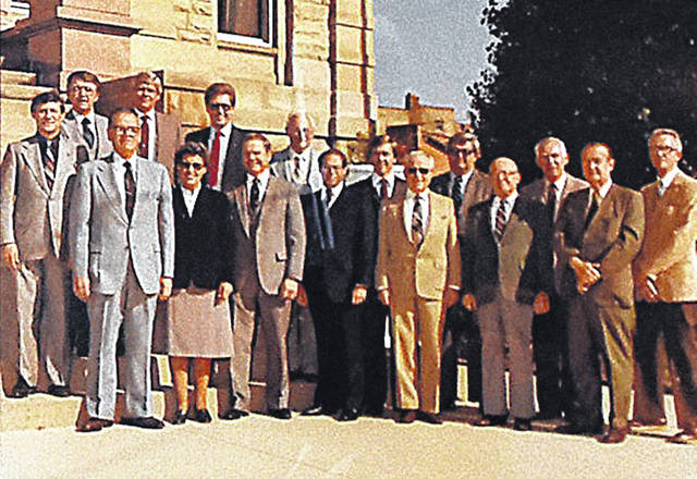 Alberta Lee, second from the left in the front row of this photograph from the 1990s, was a trailblazer for female politicians in the region, becoming the first woman eleceted as county commissioner.