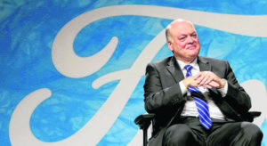 Stock drops; pressure on Ford CEO
